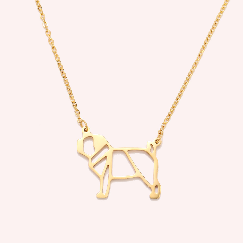 Cacana Stainless Steel Necklac Cute Dog Pet Pendant for Women Love My Pet Animal Dog Necklace Choker Ketting Jewelry Gift (5)