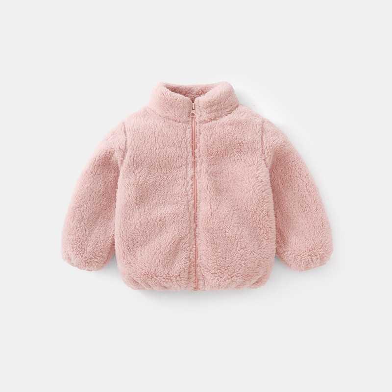 COOTELILI Fashion Fur Velvet Girls Boys Jacket Baby Girls Coat Fleece Warm Kids Jacket Snowsuit Baby Girl Hooded Outerwear (15)