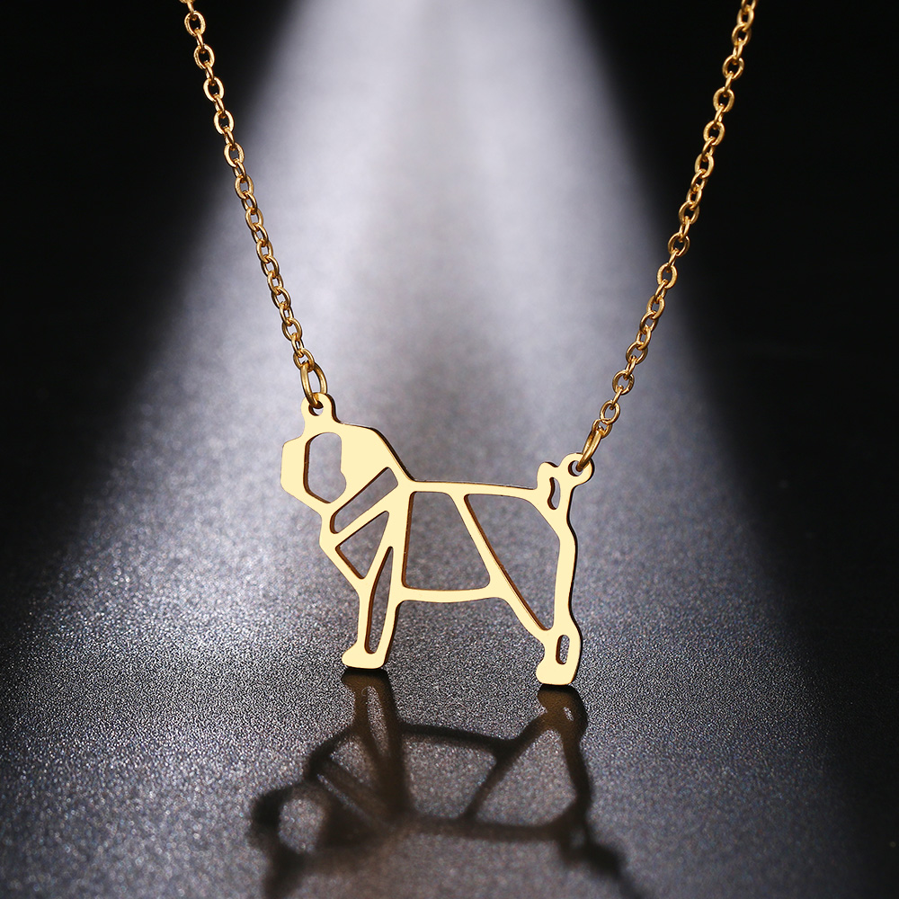 Cacana Stainless Steel Necklac Cute Dog Pet Pendant for Women Love My Pet Animal Dog Necklace Choker Ketting Jewelry Gift (6)
