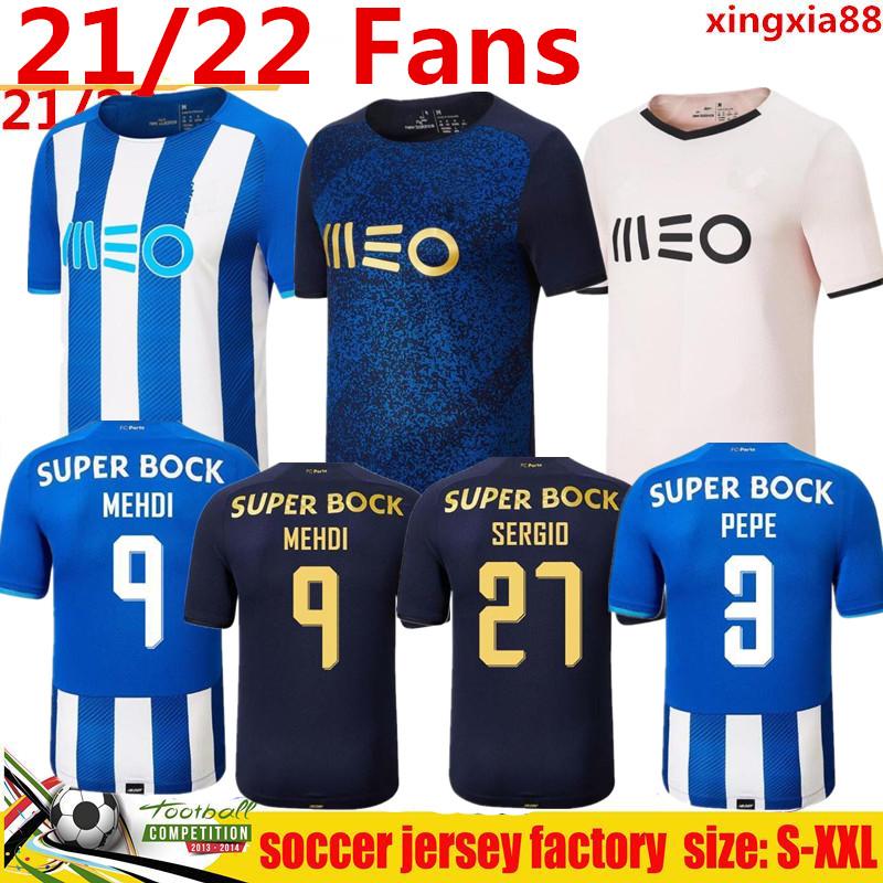 21 22 FC Porto soccer jerseys 2021 2022 Home away 3rd PEPE LUIS DÍAZ MATHEUS MEHDI Maillots De Foot Shirt MAREGA OTÁVIO SÉRGIO Men kids kit football uniforms