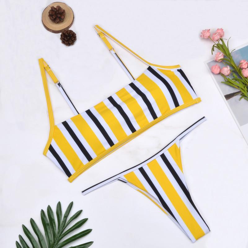 2019-Sexy-Bandeau-Bikinis-Women-Thong-Swimsuits-Solid-Swimwear-Female-Bikini-set-Striped-Black-Brazilian-Biquini