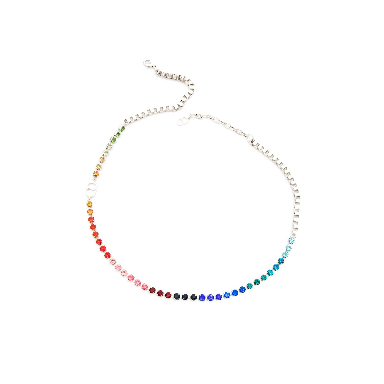 Fashion jewelry CD men's and women's necklaces chain colorful crystal splicing Bracelet Festival gift