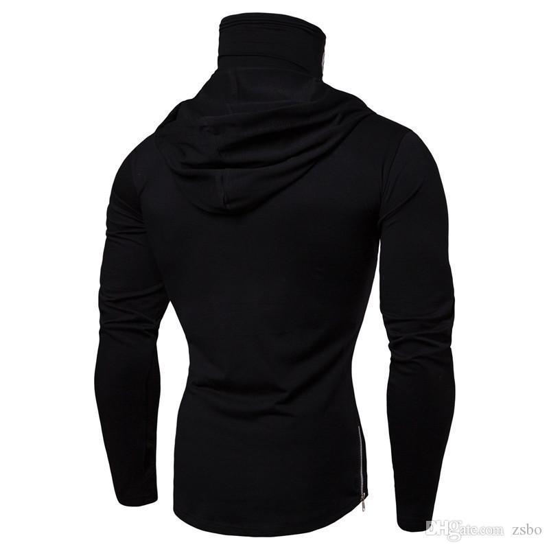 2019 mens designer t shirts Men's winter new single sweater personality game hoodies skull print high collar long sleeve WGWY190