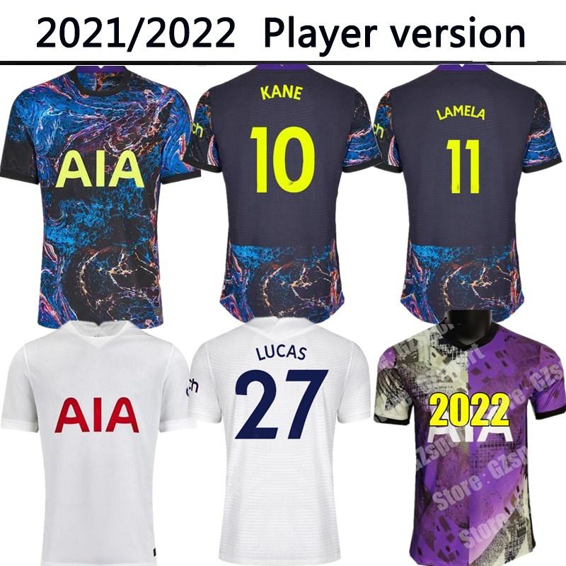 21 22 DELE SON Player version BALE KANE soccer jersey HOJBJERG BERGWIJN LO CELSO SPURS 2021 2022 LUCAS football shirts uniforms