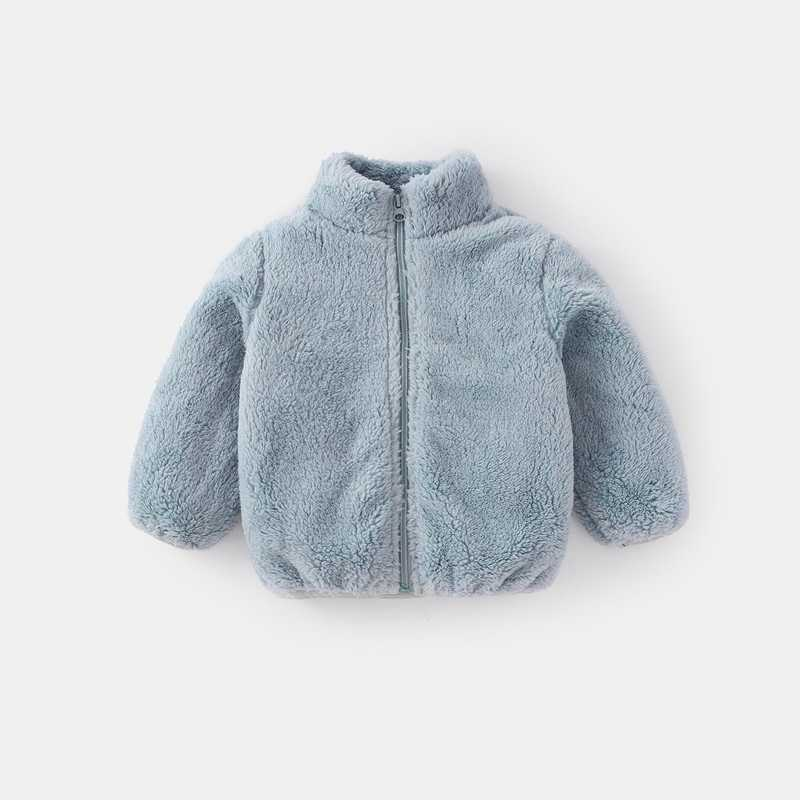 COOTELILI Fashion Fur Velvet Girls Boys Jacket Baby Girls Coat Fleece Warm Kids Jacket Snowsuit Baby Girl Hooded Outerwear (9)
