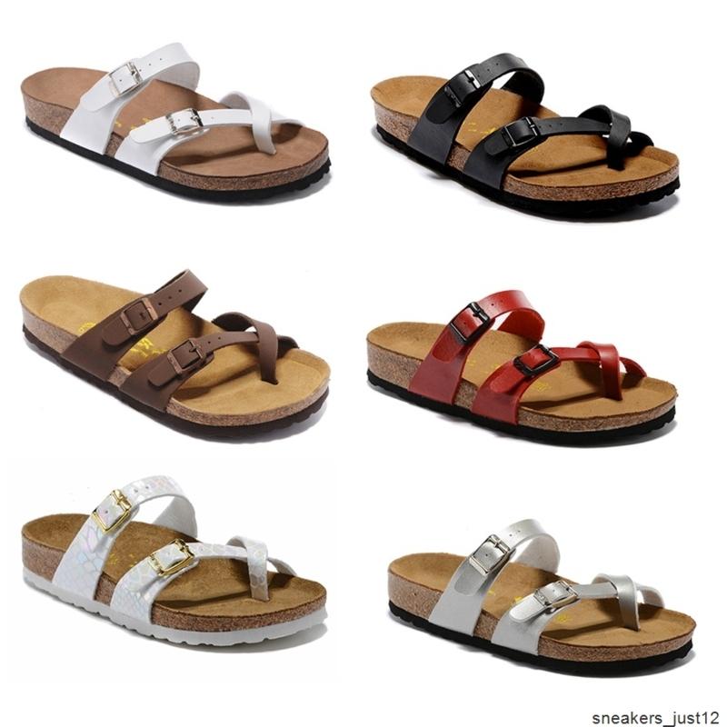 Sale Mayari Arizona Gizeh Birk summer Men Women flats sandals Cork slippers unisex casual shoes print mixed colors Fashion Flats size34-46