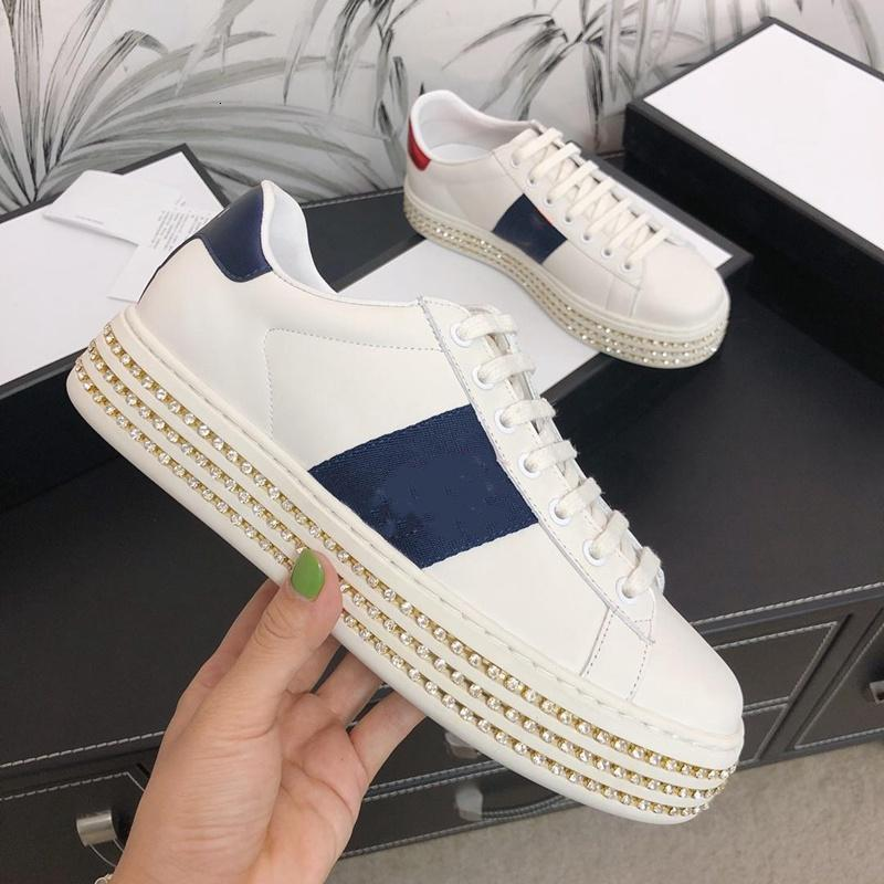 2021 The latest fashion original design crystal shoes bee embroidery luxe high quality genuine leather size 35-40