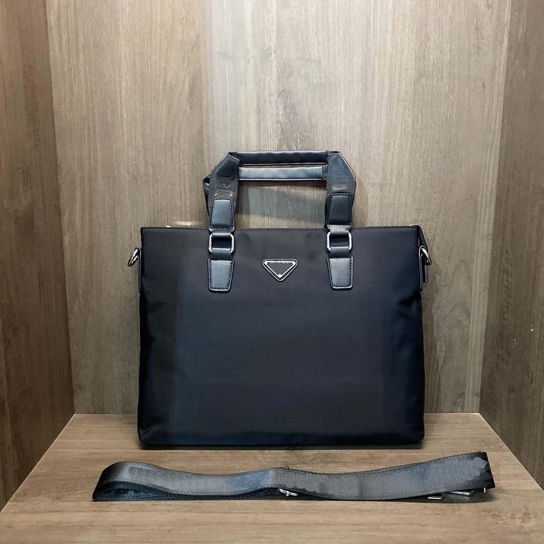 Men's Briefcase Business Bag Casual Messenger Bag Nylon Retro Messenger Bag Travel Bags Black Shoulder Bag#262
