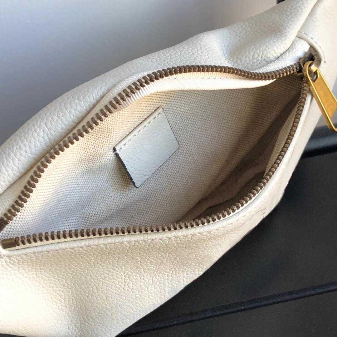 Black white soft leather men waist bag with box women belt bags luxurys designers bags men shoulder bag crossbody bag backpack 527792 493869
