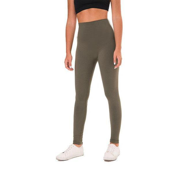 Podsycal Solid Color Women yoga pants High Waist Sports Gym Wear Leggings Elastic Fitness Lady Overall Full Tights Workout Size XS-XL