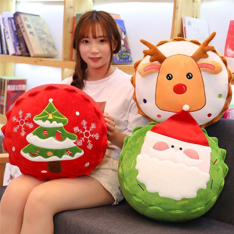 Christmas decoration plush toy snowman elk plush doll stuffed cartoon Pillow super soft creative children's gift
