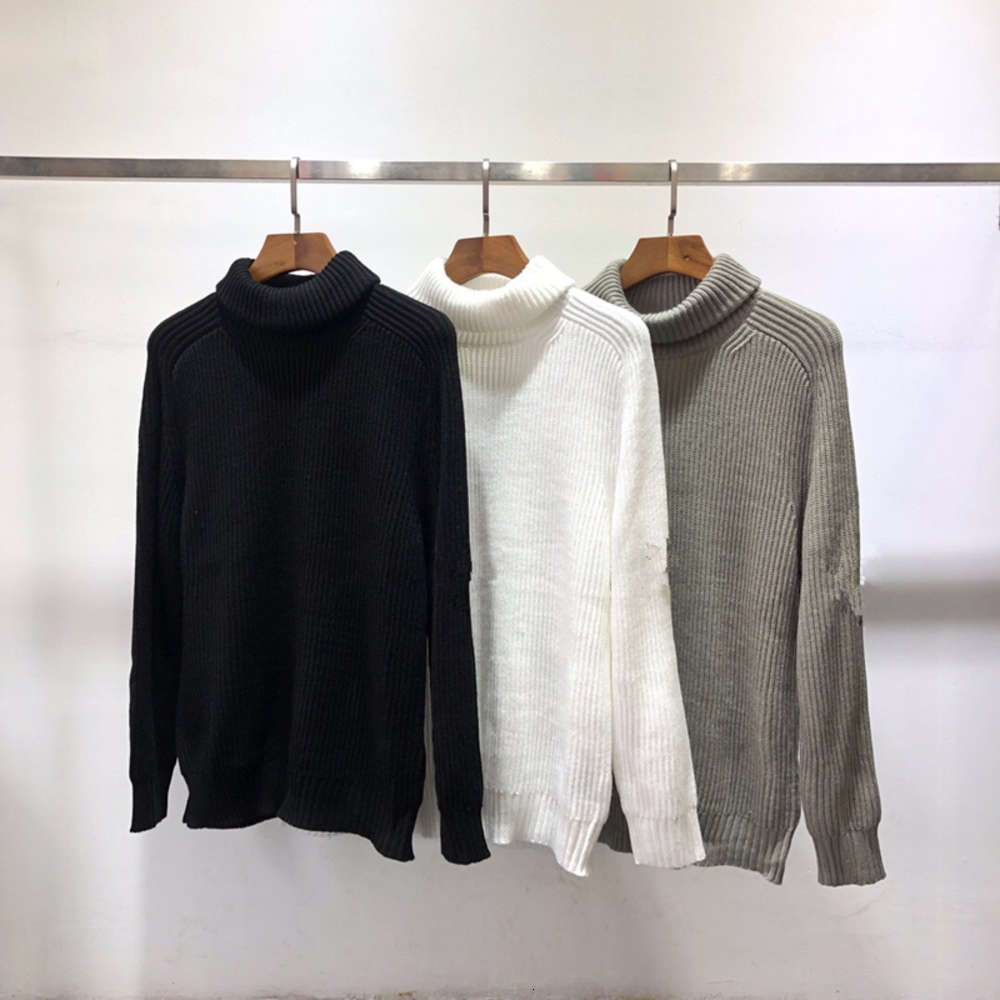 CPTOPSTOMNEY 2020 FW Winter New Turtleneck Men's Sweater Fashion High Quality Long Sleeve Knitted Men Slim Warm Sweater Pullover