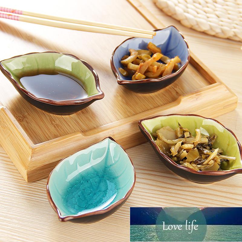 1pcs Chinese-style Gravy Boats Ceramic Leaf Ceramic Tableware Kitchen Restaurant Multi-purpose Sauce Dish Sauce Dish