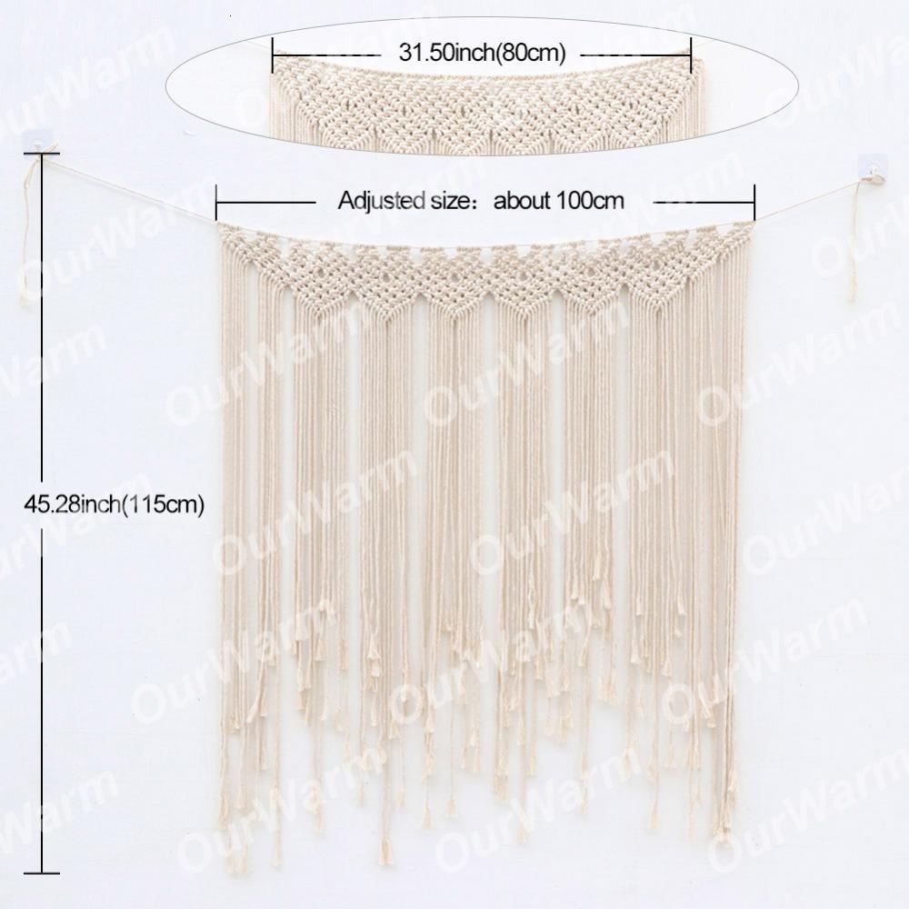 "bohemian beach Wedding Backdrop Curtain Wall Hanging Boho Wedding Hanger Cotton Handmade Wall Art Home Wall Decor 39 ""*45 """