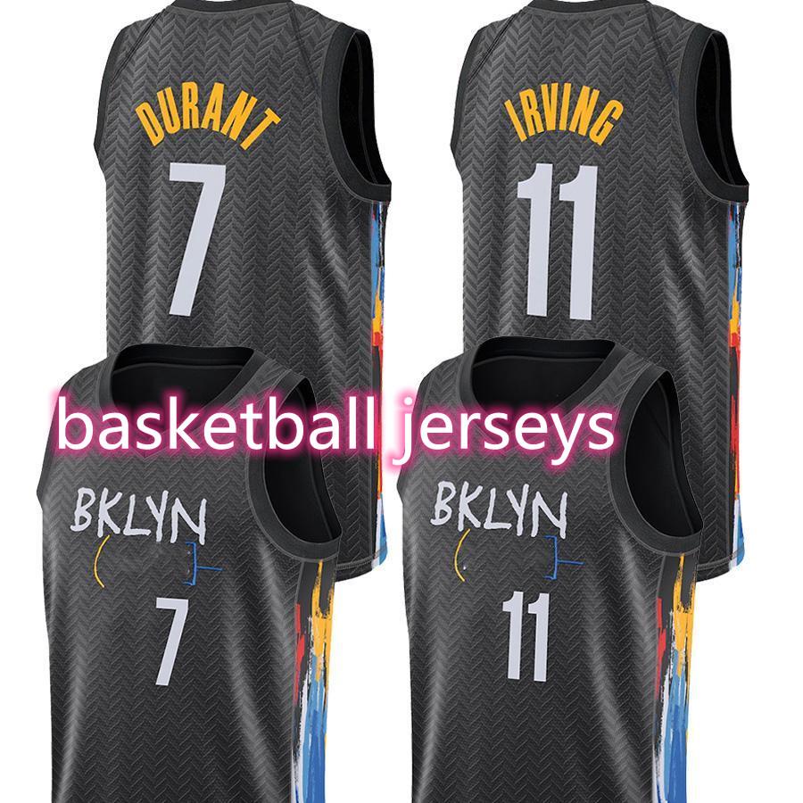 Kevin 7 Durant Jamal 27 Murray Jerseys Denvers Nikola Jersey Jokic Kyrie Basketball Irving Black 72 Biggie Brooklyns Men Dikembe 55 Mutombo