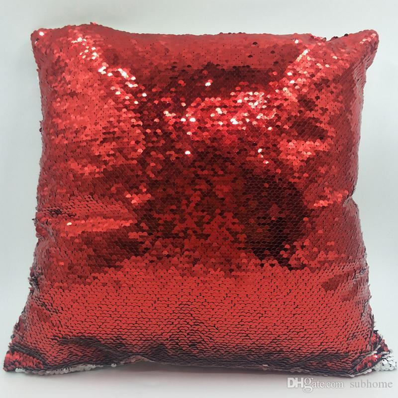 16X16 Inch Sublimation Flip Sequins Pillow Case Decorative Printable Heat Press Cushion Cover