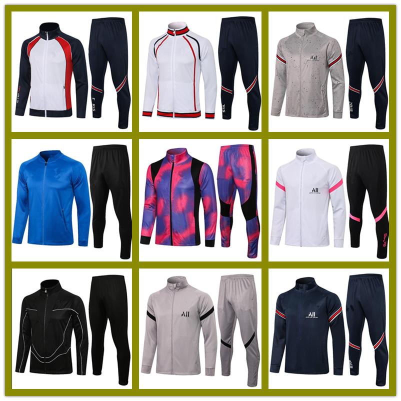 21 22 paris adult jacket hoodie tracksuit Survetement 2021 2022 full zipper chandal futbol MBAPPE men football soccer TRACKSUITs