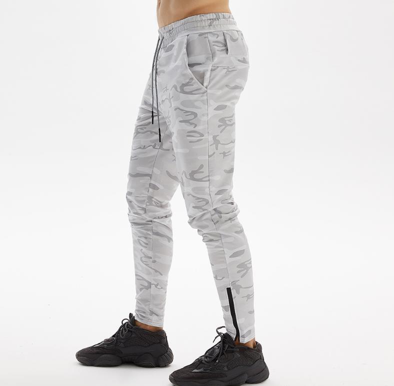 European size space cotton camouflage bottoms PANTS men's casual sports trousers zipper multi-pocket running pants S-XL