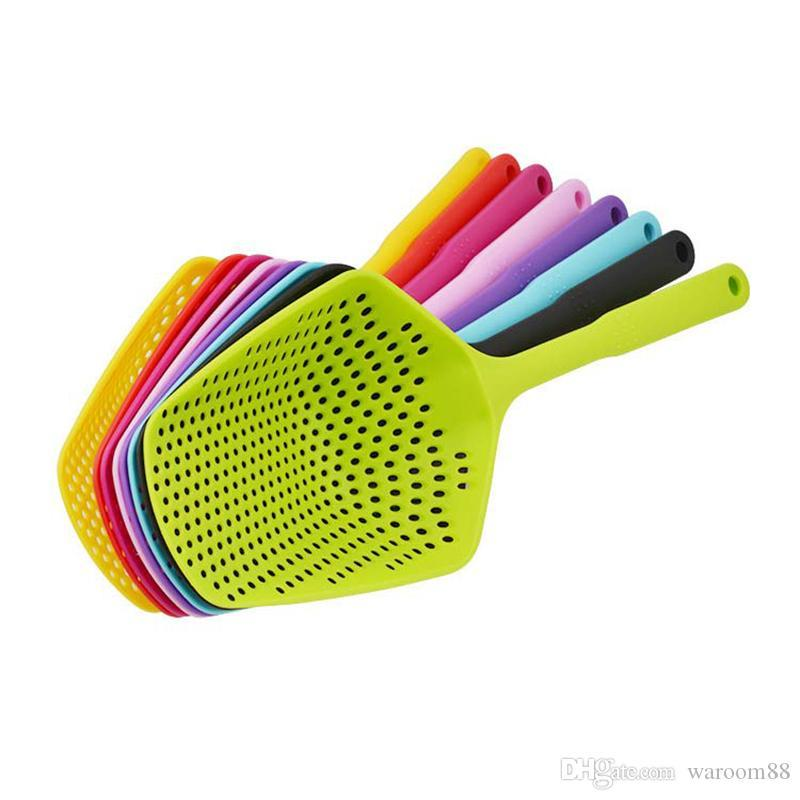 Cooking Shovels Vegetable Strainer Scoop Nylon Spoon Large Colander Soup Filter Pasta Heat Resistant Strainer Fashion Kitchen Tools