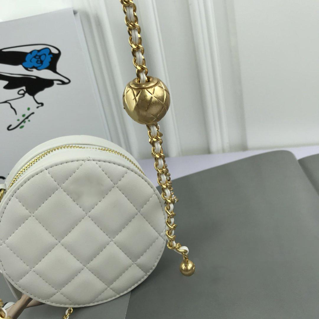 New style hot sale high quality small round handbag, top design stylish and beautiful flap bag, multifunctional chain crossbody bag