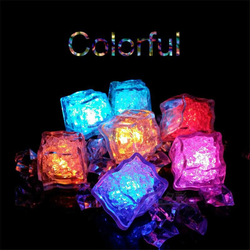Led Light Polychrome Flash Party Lights Glowing Ice Cubes Blinking Flashing Decor Lightss Up Bar Club Wedding