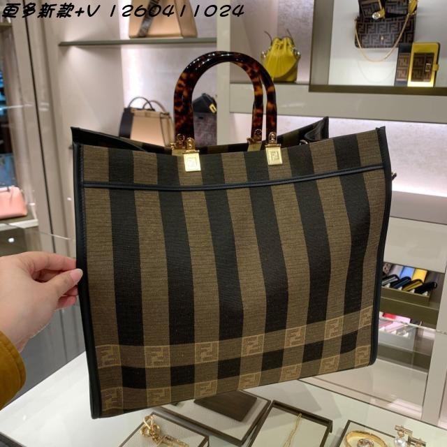 Designer Tote Bag Branded crossbody Mini Luxurys Bags Handbag Fend 2021 fashion classic vertical stripe FF letter agate pattern Handle Zlh