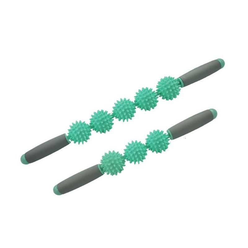 Three Hedgehog Balls Massage Stick Motion Roller Yoga Bar Massage And Relax Muscles Stimulate The Circulation Of Blood 20fm2 W