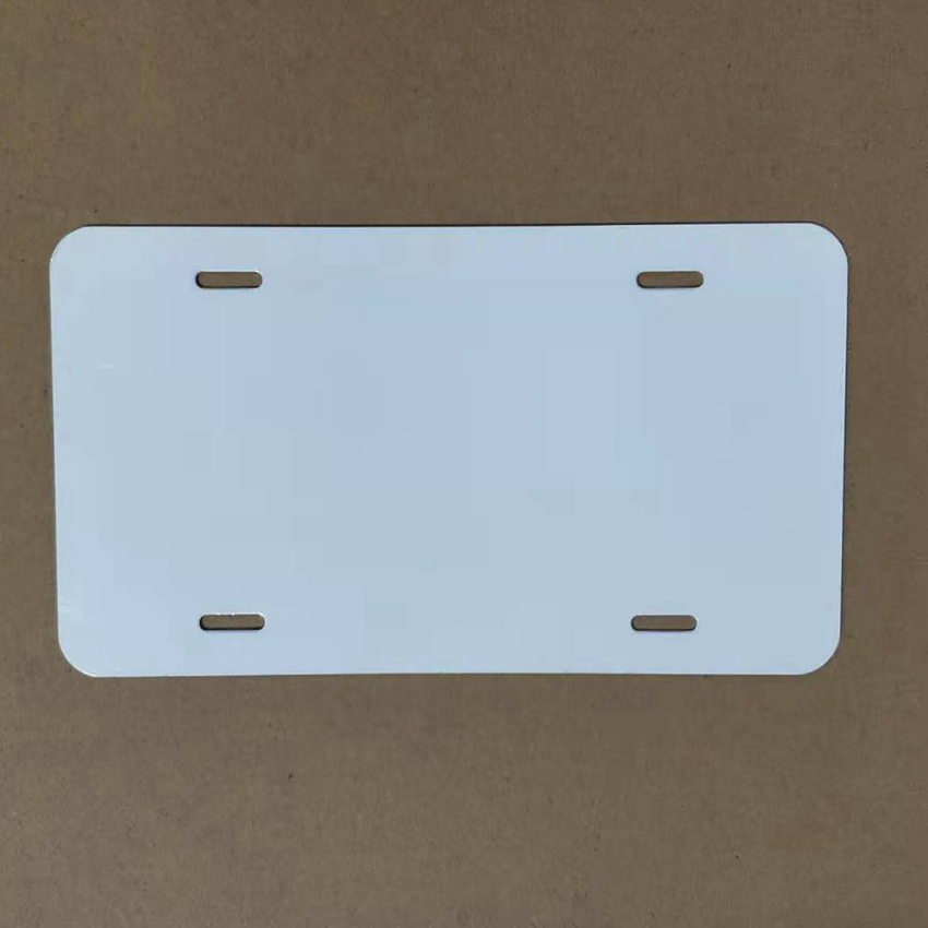 """12x6"""" Sublimation Blank Metal Car License Plate Heat Transfer Consumables Printing DIY Sublimation Car License Plate CYZ3073"""