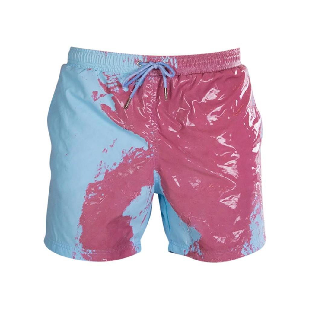 Kids Boy Pants Children Discoloration Beach Pants Swimming Trunks Sense Discoloration Shorts Swimsuit Color Changing Swimwear