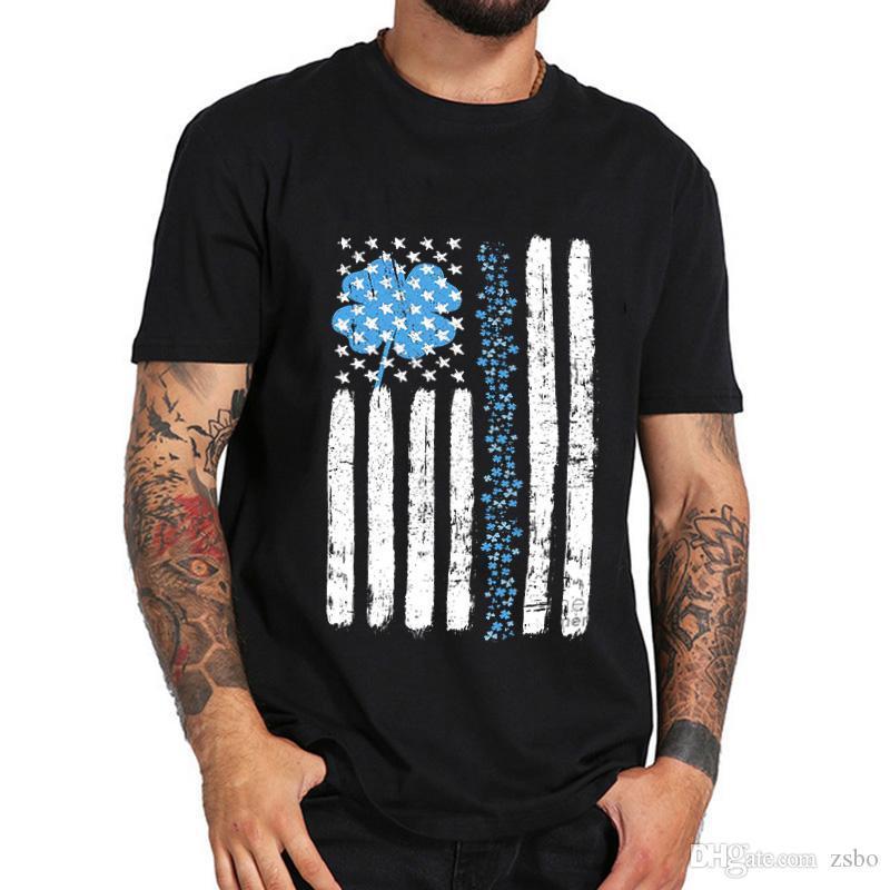 ZSIIBO 2020 mens designer t shirts US Flag Athletic printing cotton t shirt men and women's street style hip hop top tee DYDHGMC194