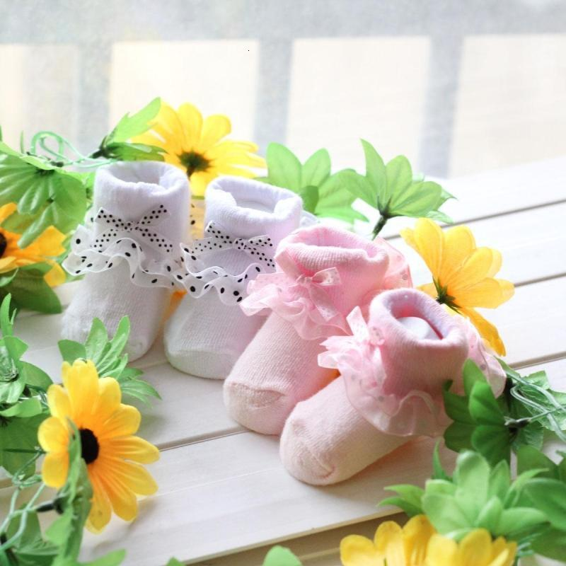 Infant Newborn Toddler Baby Girls sock Kids Princess Bowknot Lace Floral Short Socks Cotton Ruffle Frilly Trim Ankle Socks