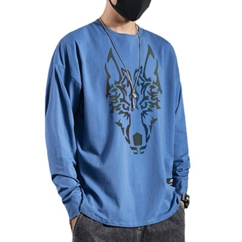 Cotton Knitted Men 'S Long Sleeve T Shirt Brand Spring Fashion Casual Tshirt T-Shirt for Male Trend
