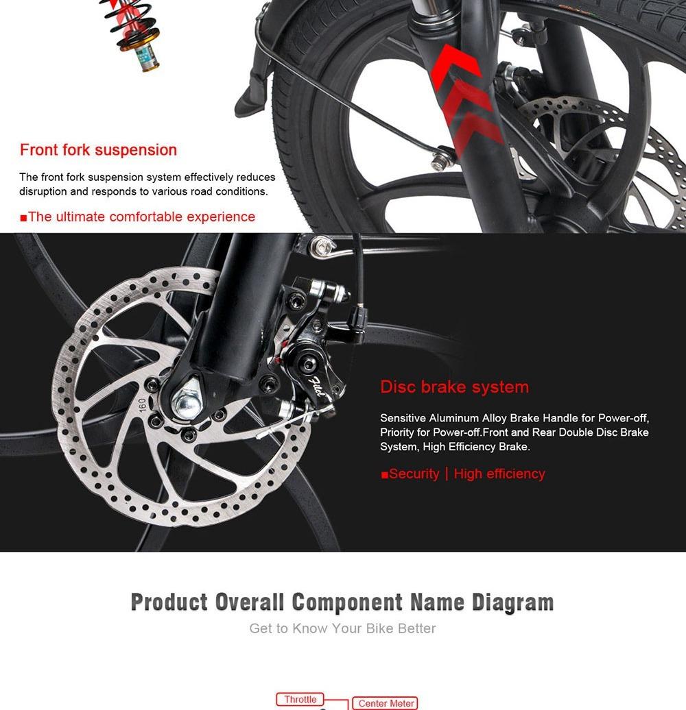 Samebike 20LVXD30 Portable Folding Smart Electric Moped Bike 350W Motor Max 35km/h 20 Inch Tire - White