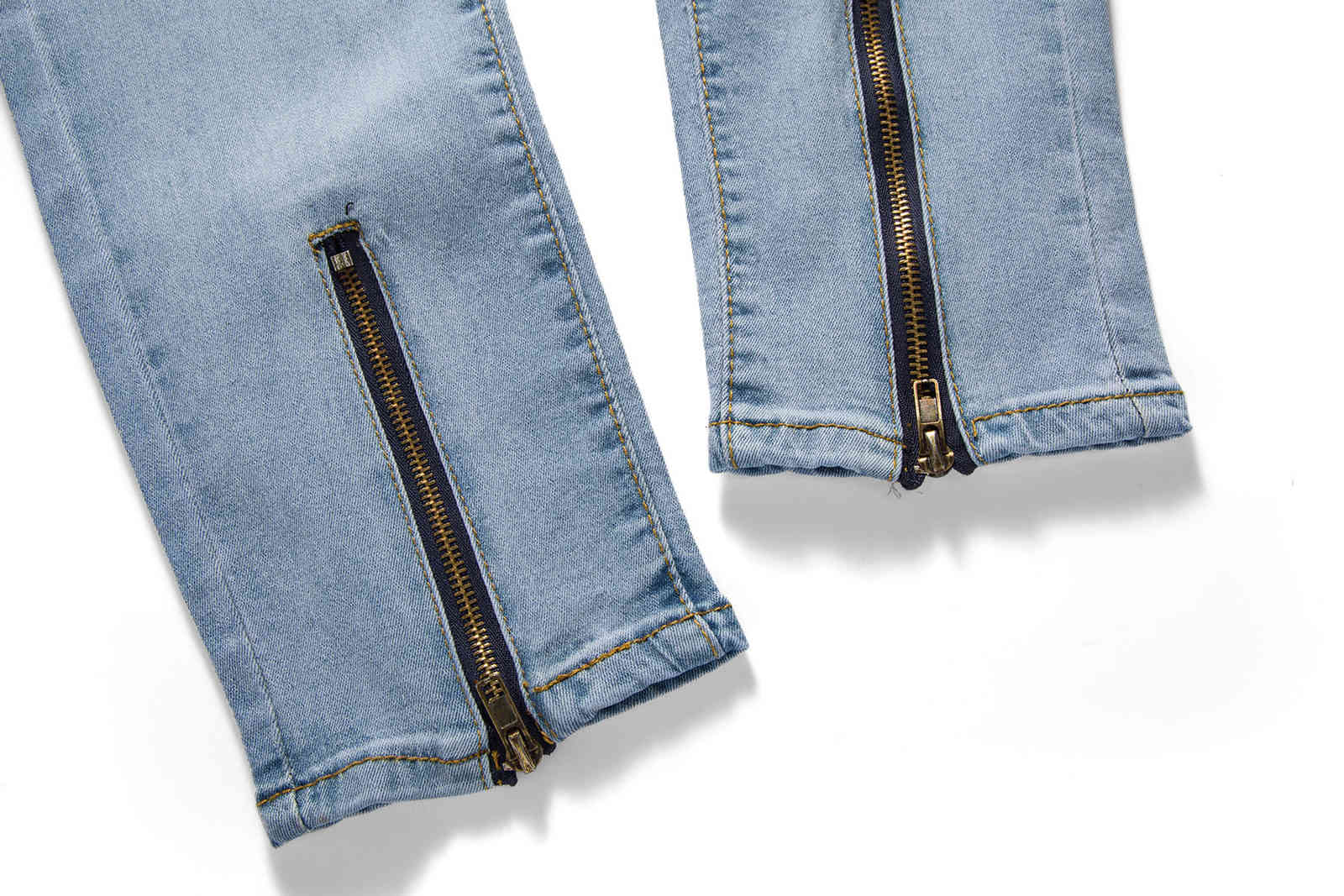 Summer 2019 New Fashion Casual Men Europe And The United States Trend Slim Fit With Broken Straight Tube Jeans