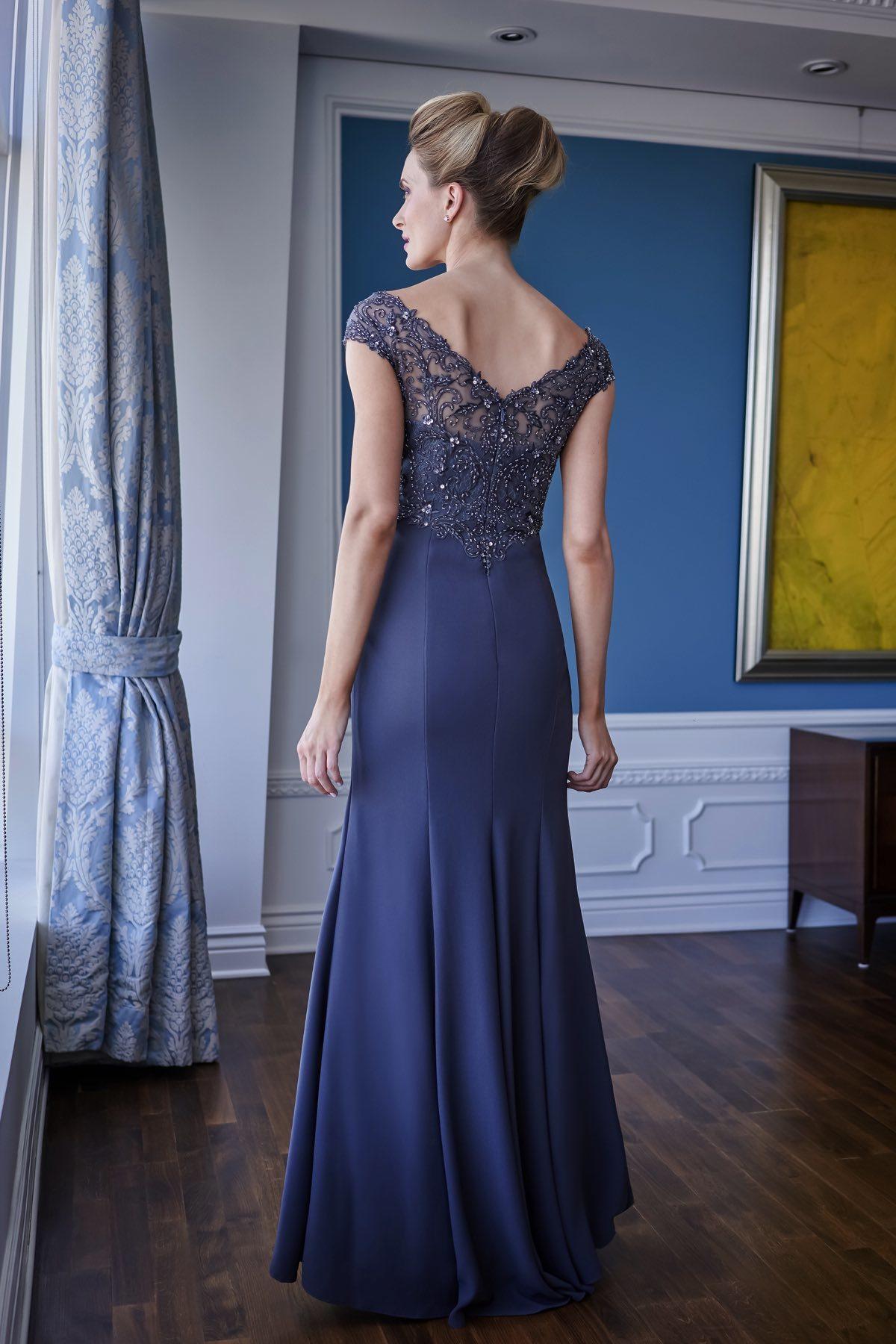 Sheath Mother Of The Bridal Dresses V Neck Capped Beaded Chiffon Prom Dress Floor Length Mothers Dresses
