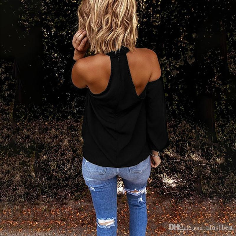 Criss-Cross Halter Womens Tshirts Solid Color Backless Long Sleeve Designer Womens Tees Casual Sexy Brief Summer T Shirts