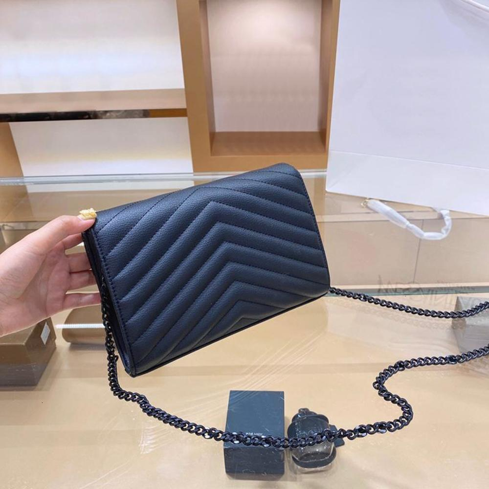 Genuine Leather Handbag Comes With a Box WOC Chain Bag Women luxurys Fashion Designers Bags Female clutch Classic High Quality Girl Handbags