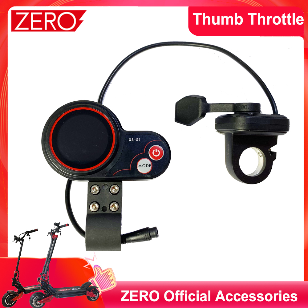 Original ZERO Thumb Throttle Electric Scooter LCD Display Kit Suit for ZERO 8 9 10 10X 11X QS-S4 LCD