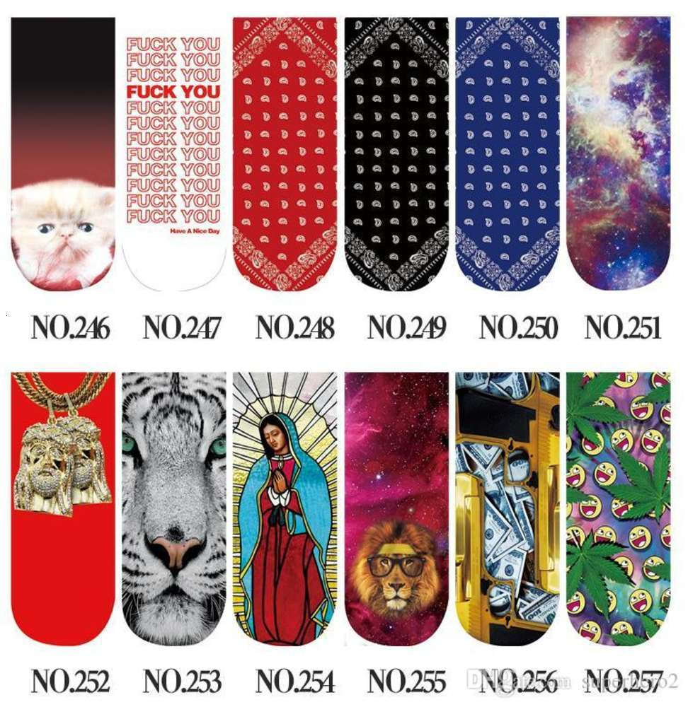 Casual Women Low Cut Ankle Socks Cotton 3D Printed Lady Girls Soft Cartoon Slippers Sock Cosplay costume 467 Patterns for chose XMAS gift