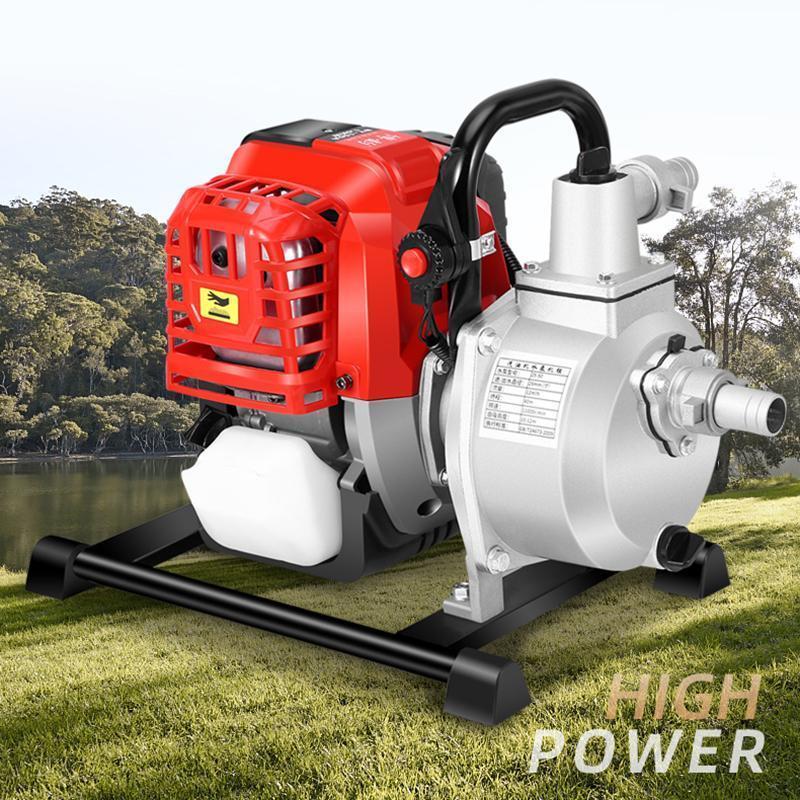 Gasoline engine water pump four stroke water pump high headself-priming pump irrigation field garden fight against drought