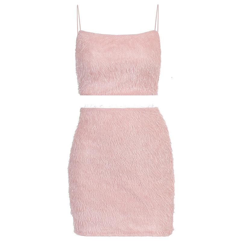 Women Sexy Dress Fashoin Spaghetti Strap Fluffy Short Skirt Sets New Women Summer Clothing