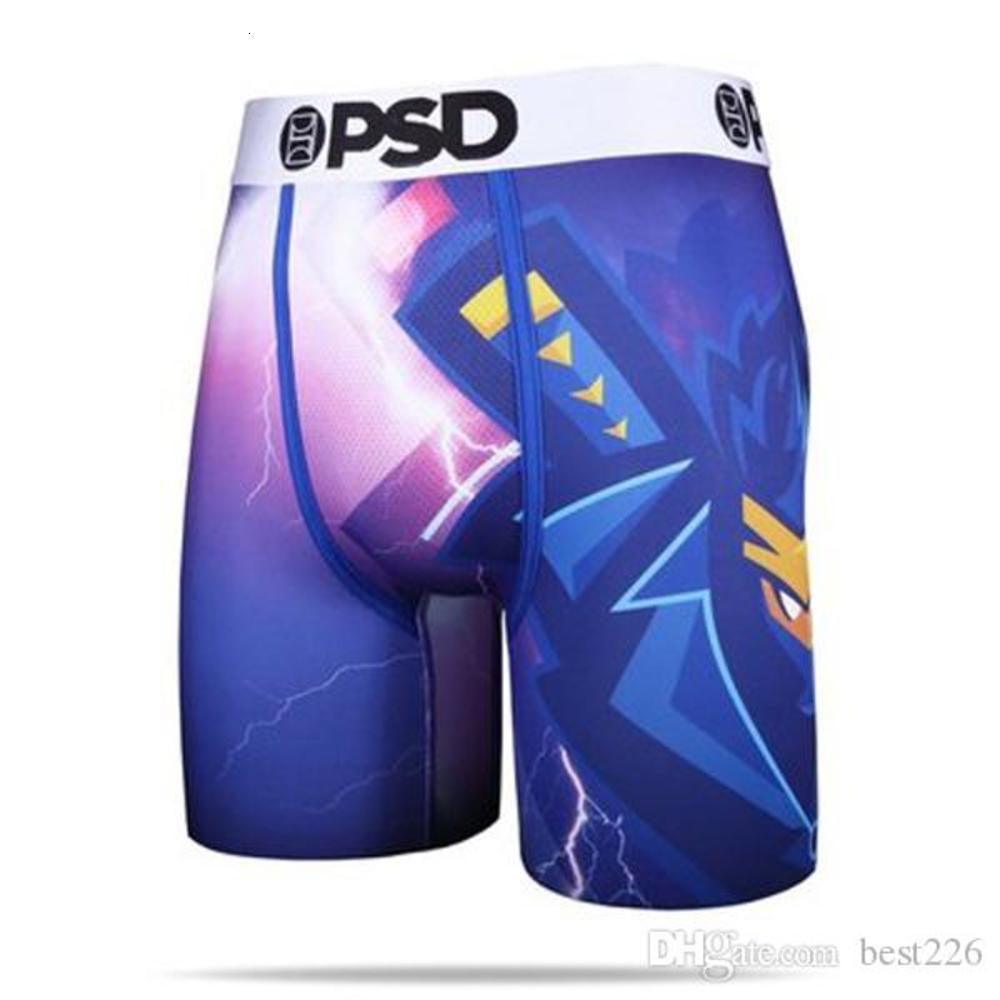 Random styles PSD underwear Men unisex boxers breif pattern sports hip hop rock excise underwear skateboard street fashion streched S-2XL