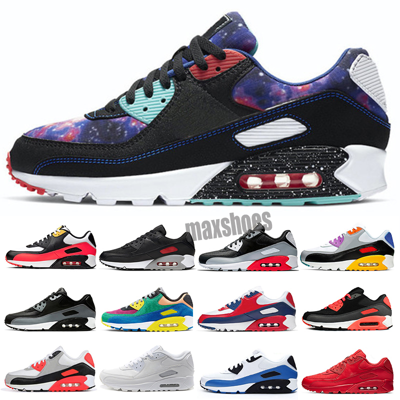 2021 high quality 90 casual Running shoes 90s men women chaussures Camo UNC USA Volt Supernova triple white black mens Outdoor trainers Size 40-46