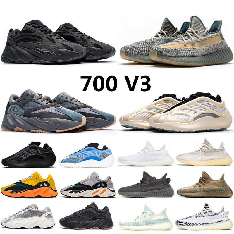 2021 Static Reflective 700 V2 Running Shoes for mens Breathable Inertia Tephra Solid Grey Utility Black Men Women Sport Trainers Sneakers