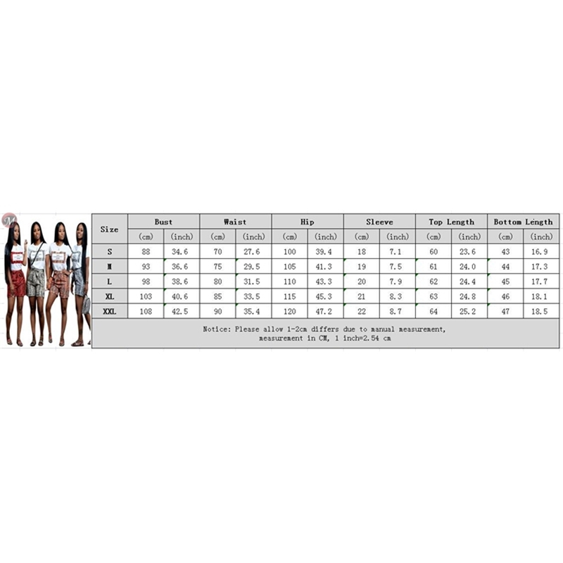 07AF183 wholesale multicolor snakesikn print t shirt woman two piece tracksuit casual short set