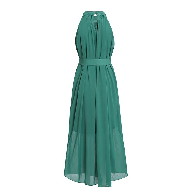 Sisjuly-Chiffon-Summer-Dress-Women-Halter-Sexy-Ladies-Party-Black-Off-Shoulder-Elegant-Beach-Lace-Up (1)