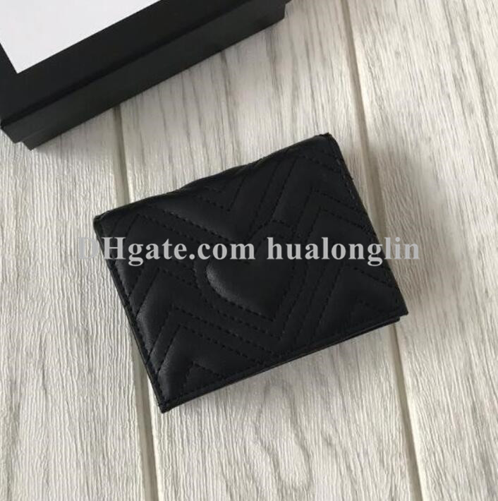 Women wallet purse card holder genuine leather original box fashion high quality whole sale discount