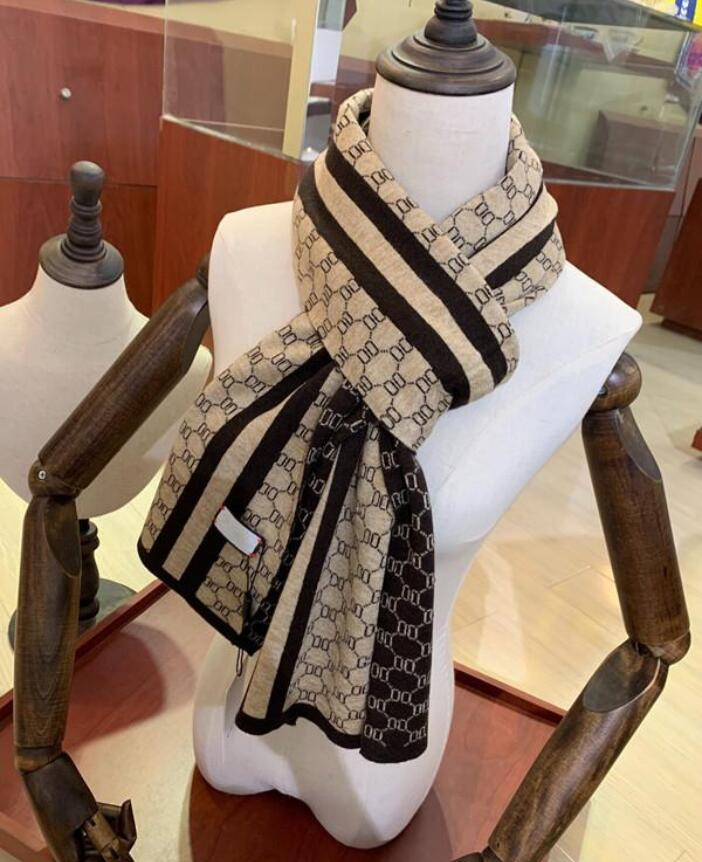 High quality silk scarf 4 seasonal scarves Men's and women's long-necked clover scarfs 3 colors available with box