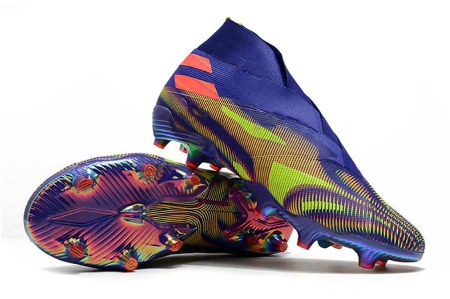 2021 boots Nemeziz Messi Rey Del Balon .1 FG - Solar Red/Solar Yellow/Core Black men soccer shoes Nemeziz/19+ Uniforia Pack mens football shoe sports sneakers