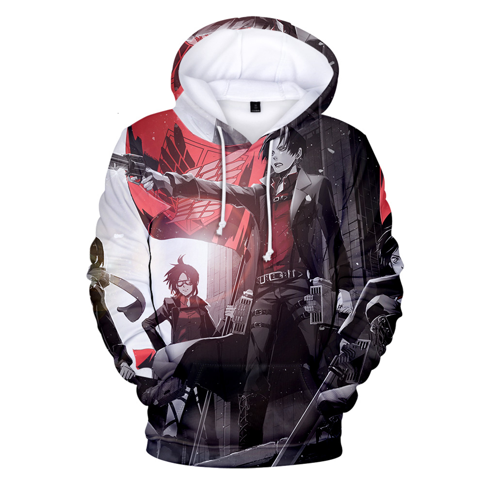 Anime Attack Titans S4 3D Printed Hoodies Women/Men Fashion Long Sleeve Hooded Sweatshirt Attack on titans Streetwear Clothes
